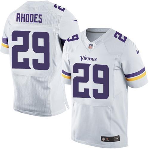 Nike Minnesota Vikings No.29 Xavier Rhodes White Stitched Elite Jersey