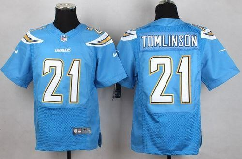 separation shoes dcf77 bb3f7 Nike Chargers 21 LaDainian Tomlinson Electric Blue Alternate ...