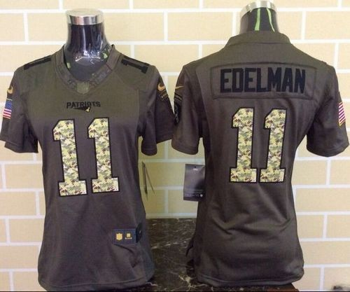 Nike Patriots 11 Julian Edelman Green Women Stitched NFL Limited ...