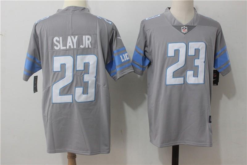 Nike NFL Lions 23 Darius Slay JR Grey 2017 Color Rush Limited Men ...