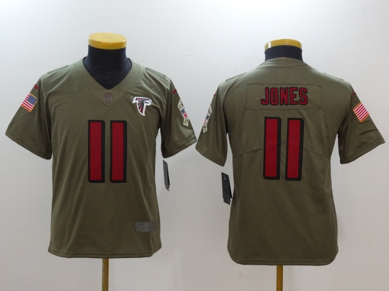 Nike Falcons 11 Julio Jones Olive 2017 Salute To Service Limited ...