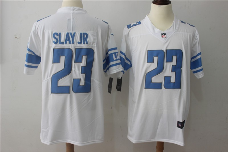 uk availability e15c6 d4f46 Nike NFL Lions 23 Darius Slay JR White Vapor Untouchable ...
