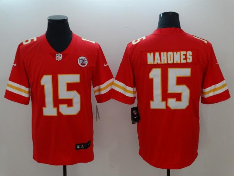 9f4deeb97cc44 Nike Kansas City Chiefs 15 Patrick Mahomes Red Team Color Vapor Untouchable  Limited Men Jersey