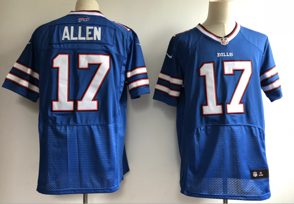 87dd1a31d NFL Buffalo Bills 17 Josh Allen Nike Royal 2018 NFL Draft Elite Men Jersey