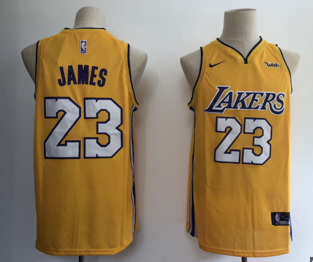 detailed look 0d764 3614b NBA Lakers 23 LeBron James Gold Nike Swingman Youth Jersey