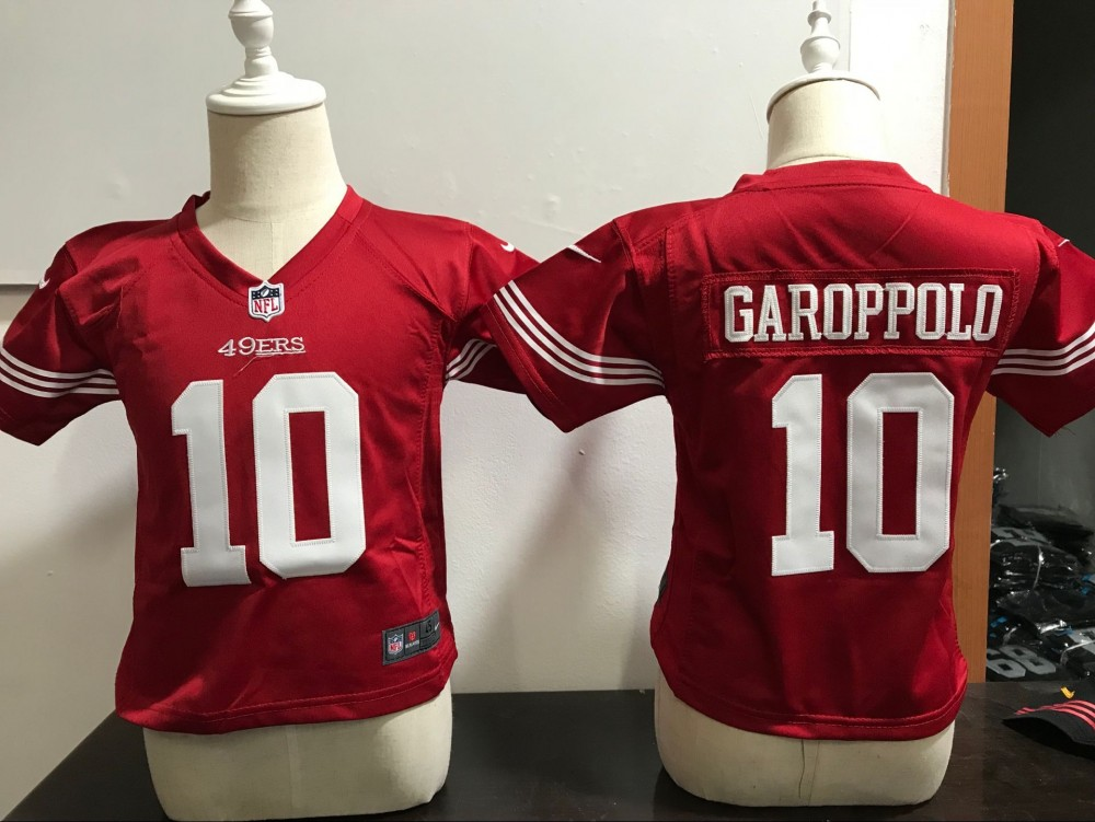 the best attitude 7daf7 b53df Nike 49ers 10 Jimmy Garoppolo Red NFL Toddler Jersey