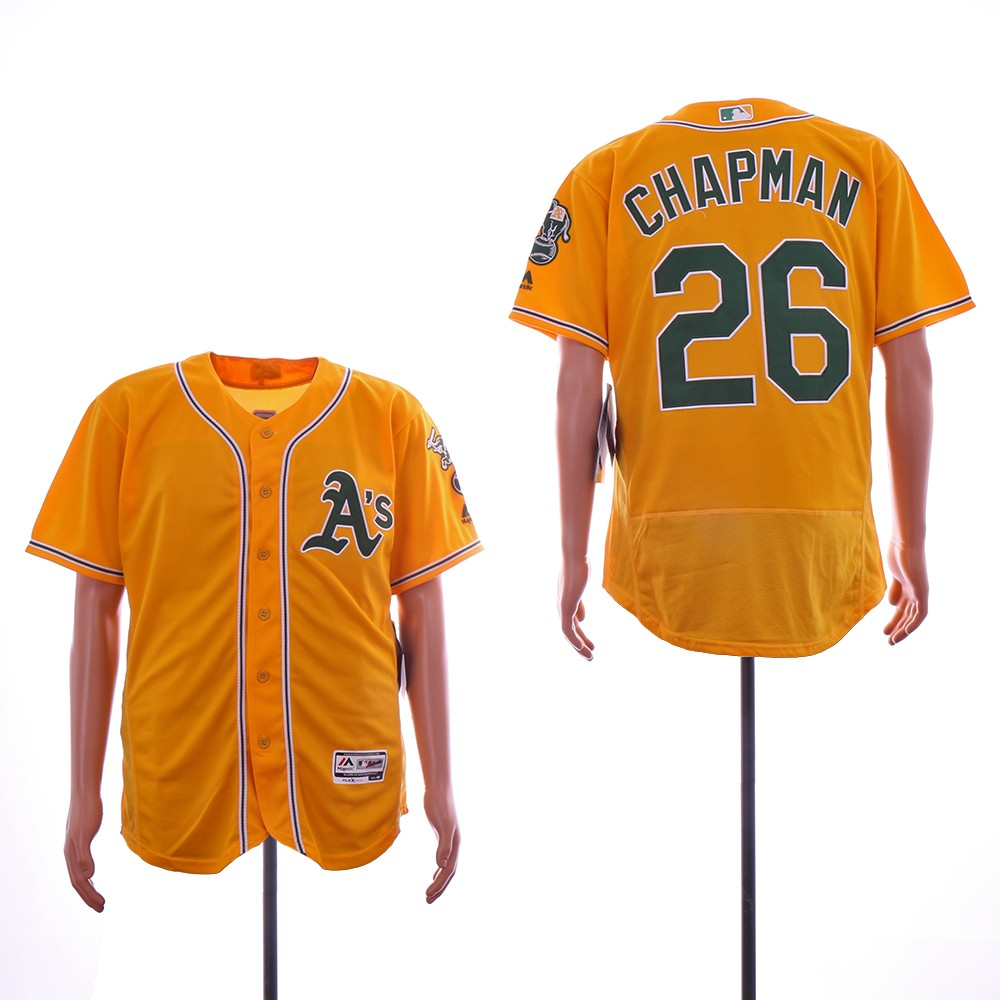 super popular 9fc6e c5db9 MLB Oakland Athletics 26 Matt Chapman Yellow Flexbase Men Jersey