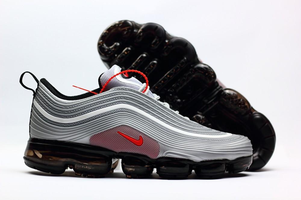 watch 00187 ea9e7 Nike Air Vapor Max 97 KPU Silver Red Black Shoes
