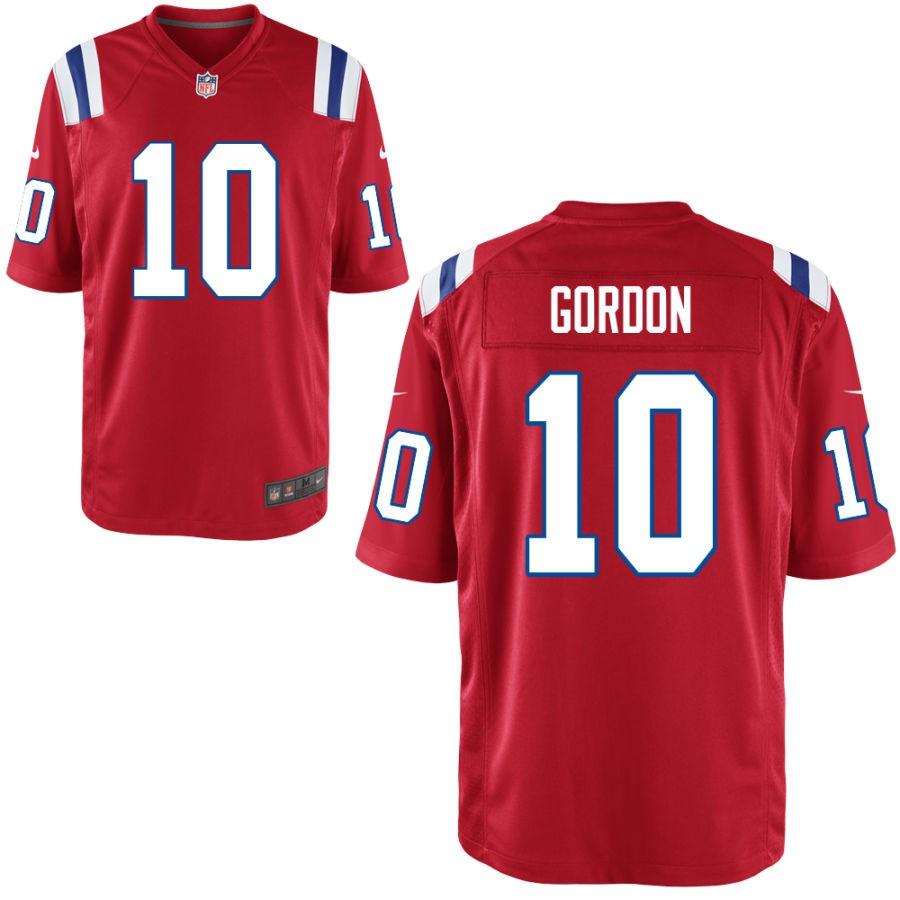 hot sale online ac5e1 7dbe1 Nike Patriots 10 Josh Gordon Red Elite Men Jersey