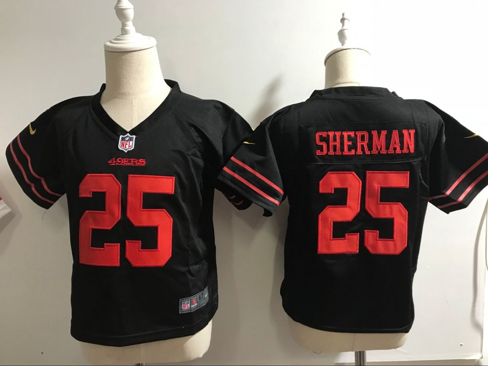 online retailer 6189e a4edd Nike 49ers 25 Richard Sherman NFL Black Toddler Jersey