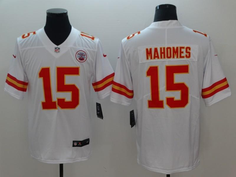 18ff1ad5aa8e0 Nike Chiefs 15 Patrick Mahomes White Vapor Untouchable Limited Men Jersey