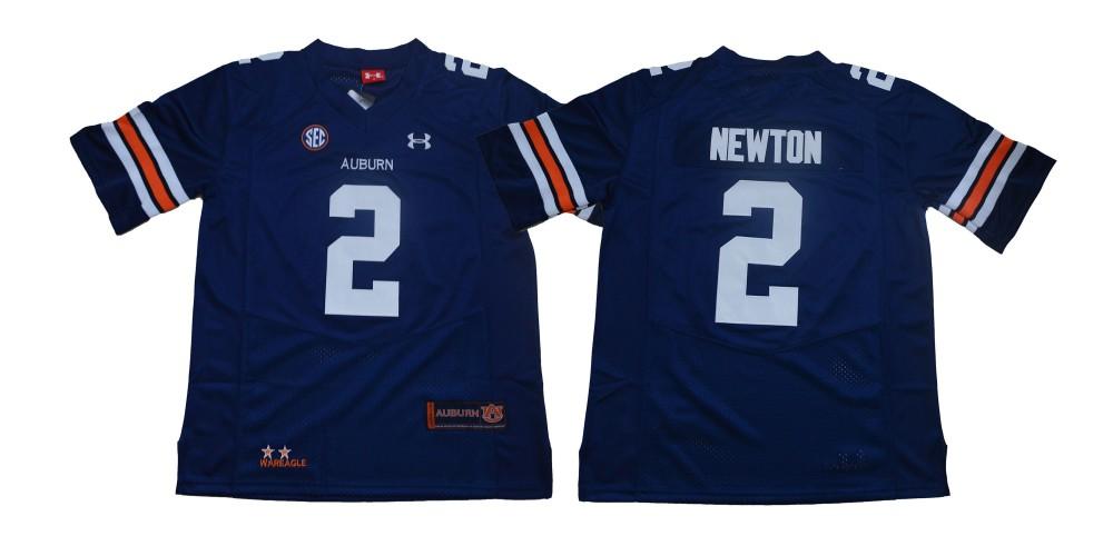 NCAA Auburn Tigers 2 Cam Newton Navy College Football Men Jersey