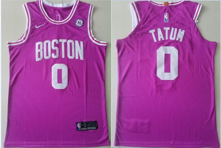 separation shoes fe861 f0836 NBA Celtics 0 Jayson Tatum Purple Nike Men Jersey