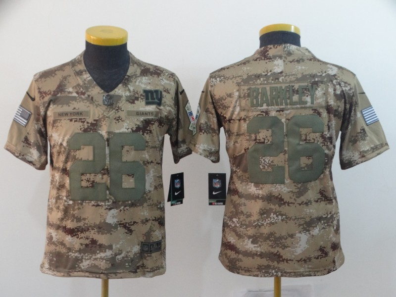 new styles 048d8 18daa Nike Giants 26 Saquon Barkley 2018 Camo Salute To Service ...