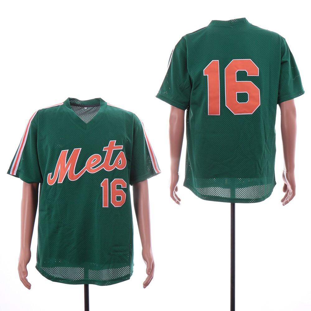 official photos a5278 d2328 MLB Mets 16 Dwight Gooden Green Mesh Throwback Men Jersey
