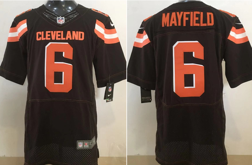 low priced 4530a 345f5 NFL Cleveland Browns 6 Baker Mayfield Nike Brown 2018 NFL ...