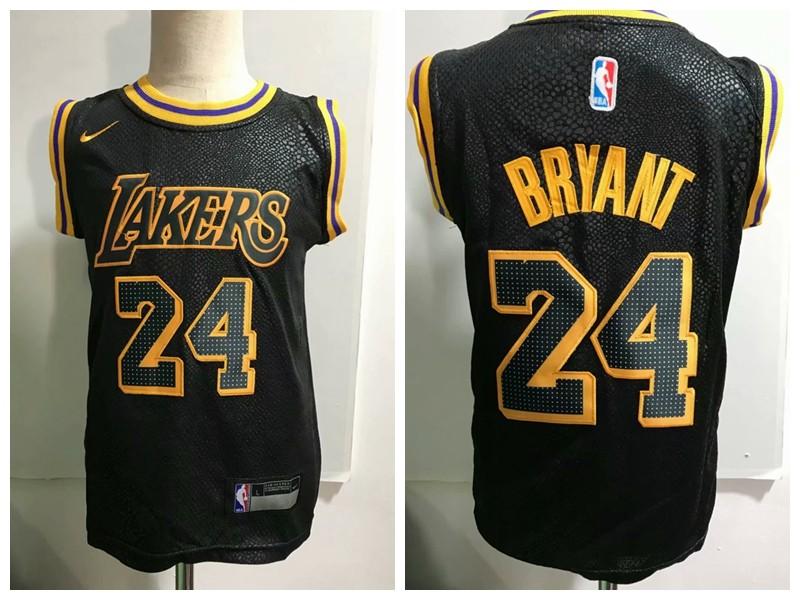 NBA Lakers 24 Kobe Bryant Black Nike Toddler Jersey