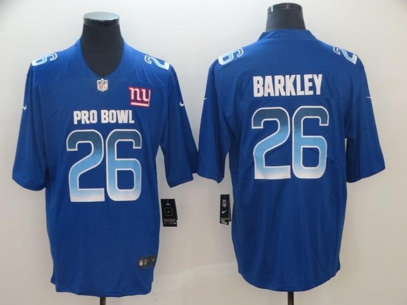 new products 60acc 14c60 Nike NFC Giants 26 Saquon Barkley Royal 2019 Pro Bowl Game ...