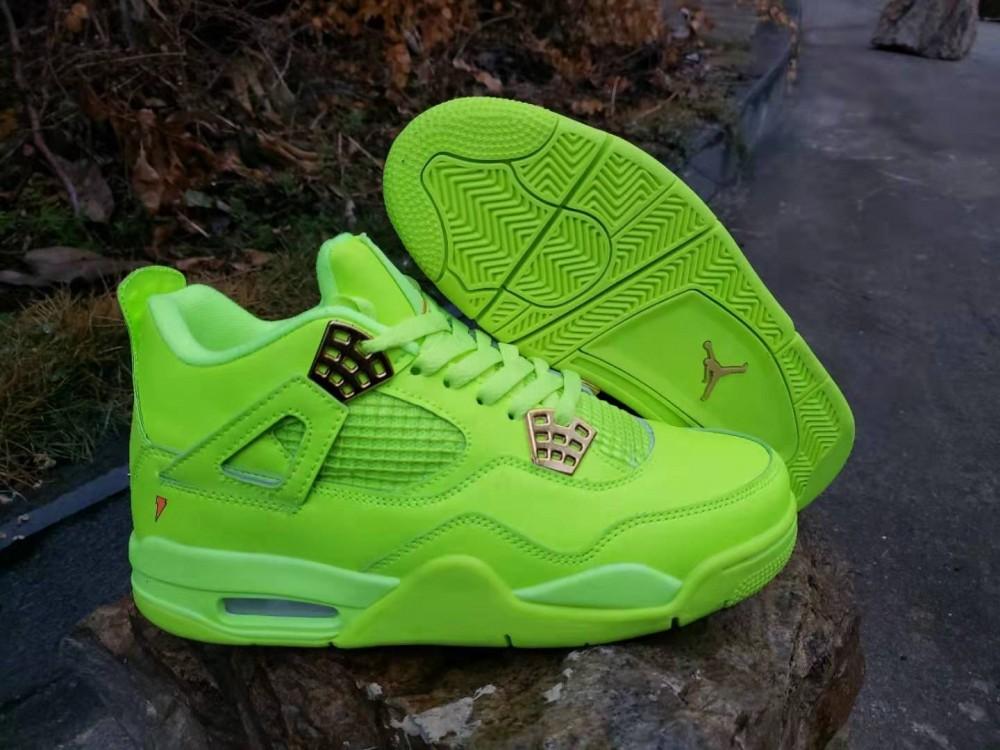 Nike Air Jordan 4 Retro Light Green Shoes