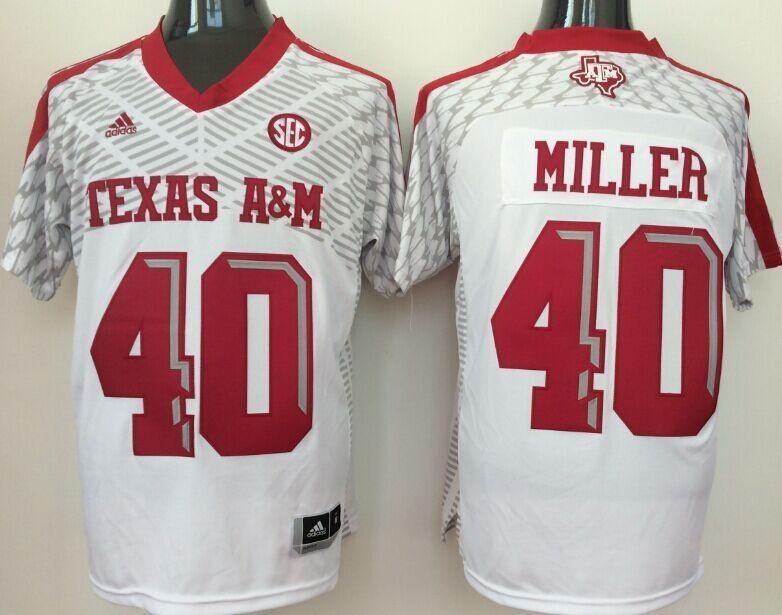 buy online 294ce 8c003 NCAA Texas A&M Aggies 40 Von Miller White College Football ...