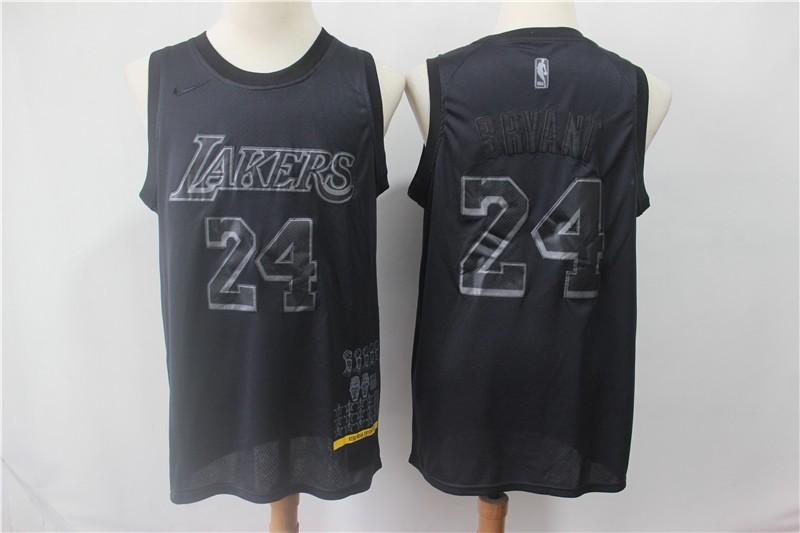 NBA Lakers 24 Kobe Bryant Black MVP Honorary Edition Nike Men Jersey