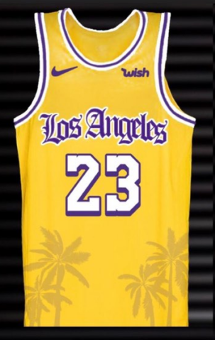 new style 5a463 feda2 LA Lakers Concept Crenshaw 23 LeBron James Yellow Jersey