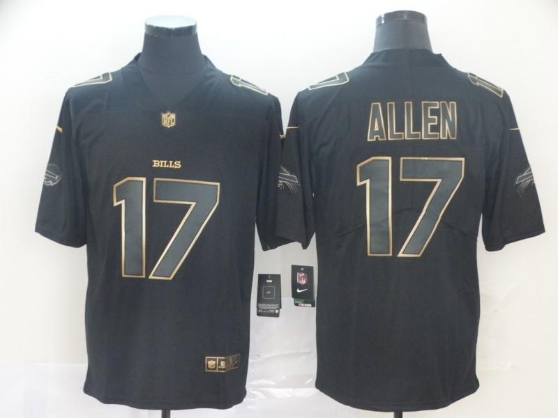 Nike Bills 17 Josh Allen Black Gold Vapor Untouchable Limited Men ...