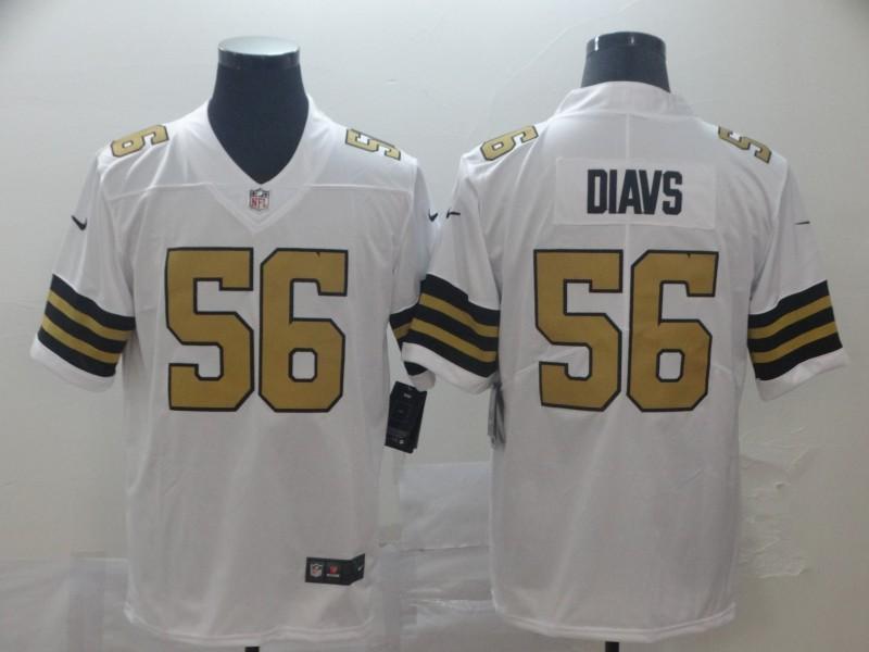Nike Saints 56 DeMario Davis White Color Rush Limited Men Jersey