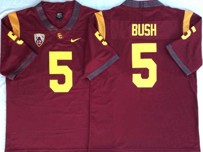 NCAA USC Trojans 5 Reggie Bush Red College Football Men Jersey