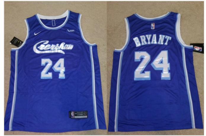 LA Lakers Concept Crenshaw 24 Kobe Bryant Blue Jersey