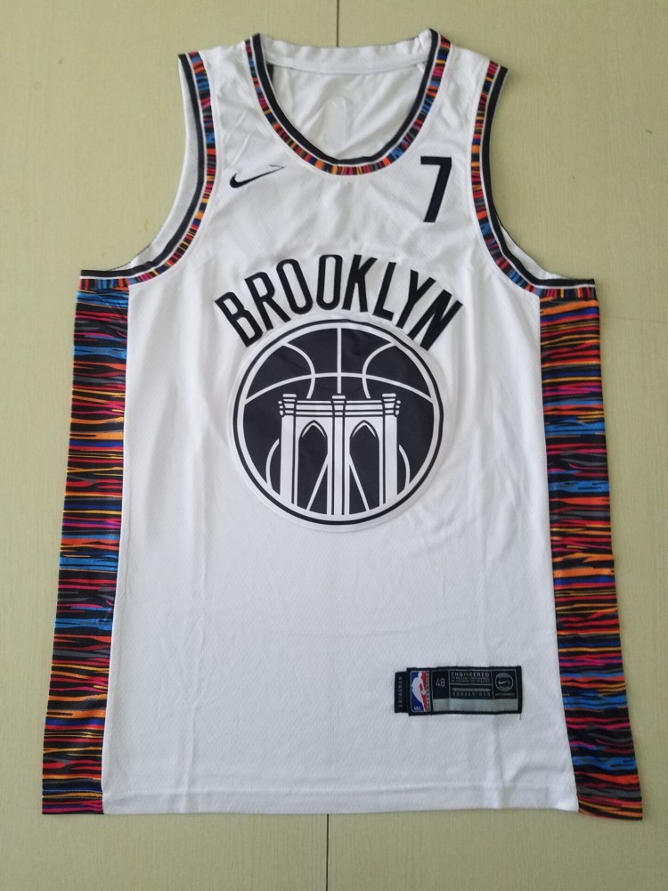 Nba Nets 7 Kevin Durant White 2021 City Edition Men Jersey