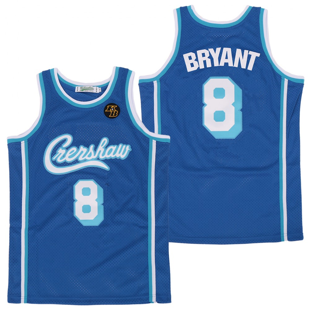 NBA LA Lakers Concept Crenshaw 8 Kobe Bryant Light Blue KB Patch ...