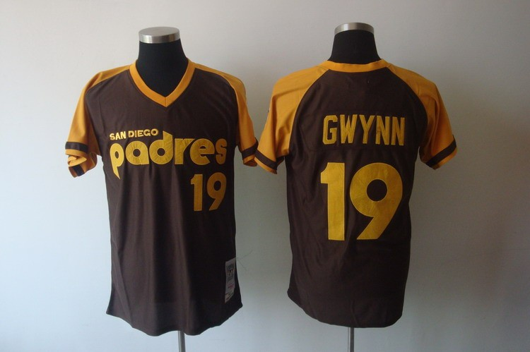 the latest ade8b d0b3f MLB Padres 19 Tony Gwynn Brown Mitchell and Ness Throwback ...