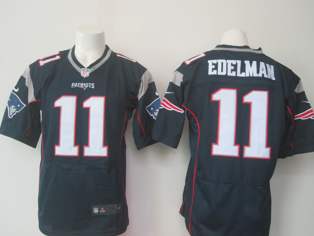 NFL New England Patriots 11 Julian Edelman Navy Blue Men Nike ...