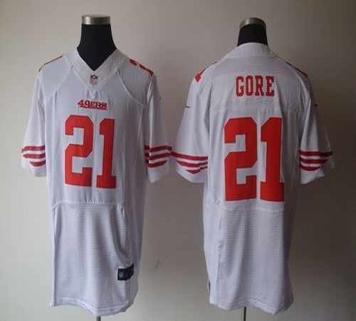 the latest 21bae badef Nike San Francisco 49ers No.21 Frank Gore White Elite Jersey