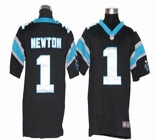 hot sale online fce8d a4d5b Youth Nike Carolina Panthers 1 Cam Newton Black Elite Jersey
