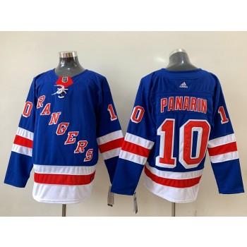 NHL Rangers 10 Artemi Panarin Blue Adidas Men Jersey