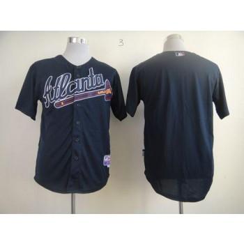 MLB Braves Blank Blue Alternate Men Jersey