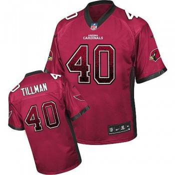 Nike Arizona Cardinals No.40 Pat Tillman Red Men's Inwrought Elite Drift Fashion Jersey
