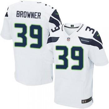 Nike Seattle Seahawks No.39 Brandon Browner White Inwought Elite Jersey