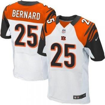 Nike Cincinnati Bengals No.25 Giovani Bernard White Men's Football Elite Jersey