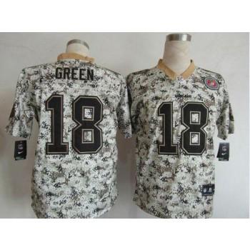 Nike Cincinnati Bengals No.18 A.J. Green Camo Men's Football USMC Elite Jersey
