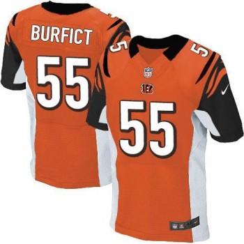 Nike Cincinnati Bengals No.55 Vontaze Burfict Orange Alternate Football Elite Jersey