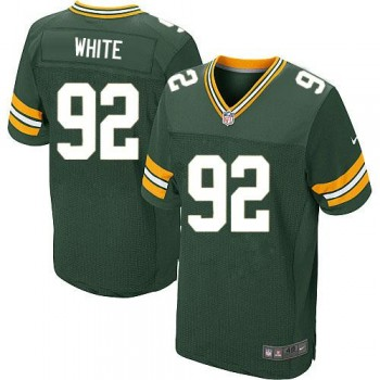 Nike Green Bay Packers No.92 Reggie White Green Football Elite Embroidered Jersey