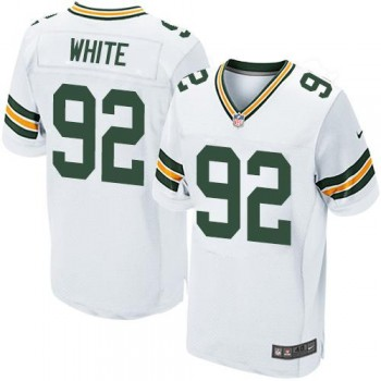 Nike Green Bay Packers No.92 Reggie White Football Elite Embroidered Jersey