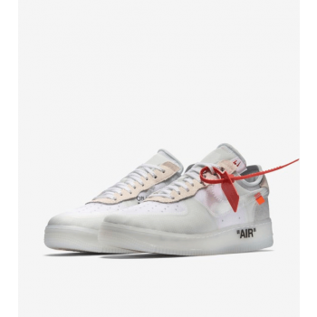 """Nike Air Force 1 Off-White Low """"GHOSTING"""" White Shoes"""