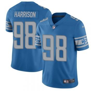Nike Detroit Lions 98 Damon Harrison Blue Vapor Untouchable Limited Men Jersey