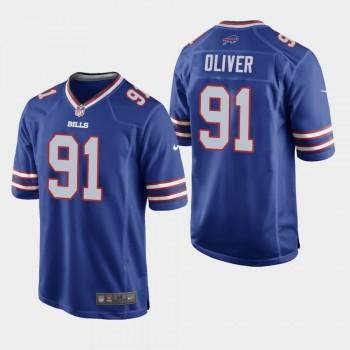 Nike Bills 91 Ed Oliver Blue 2019 NFL Draft Elite Men Jersey