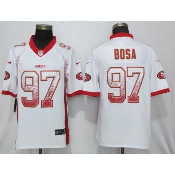 Nike 49ers 97 Nick Bosa White Drift Fashion Limited Men Jersey