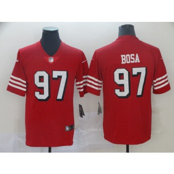 Nike 49ers 97 Nick Bosa Red Vapor Untouchable Throwback Limited Men Jersey